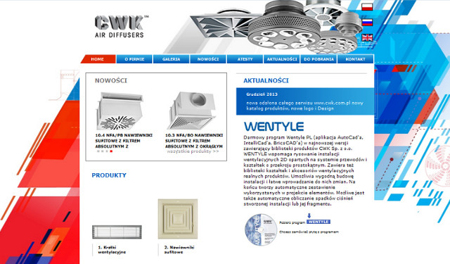Wygląd nowej strony CWK