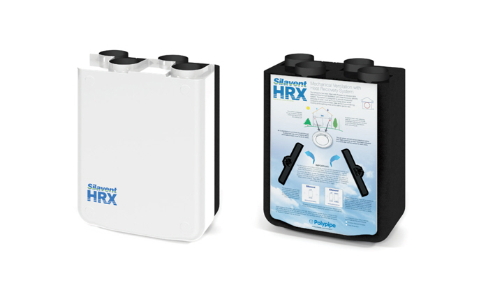 rekuperator HRX-BFP Silavent firmy Polypipe Co.
