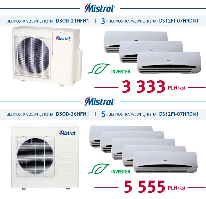 Klimatyzatory Multi DC Inverter MISTRAL w promocyjnych cenach