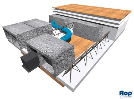 Montaż systemu Spidervent w stropie gęstożebrowym (Teriva)