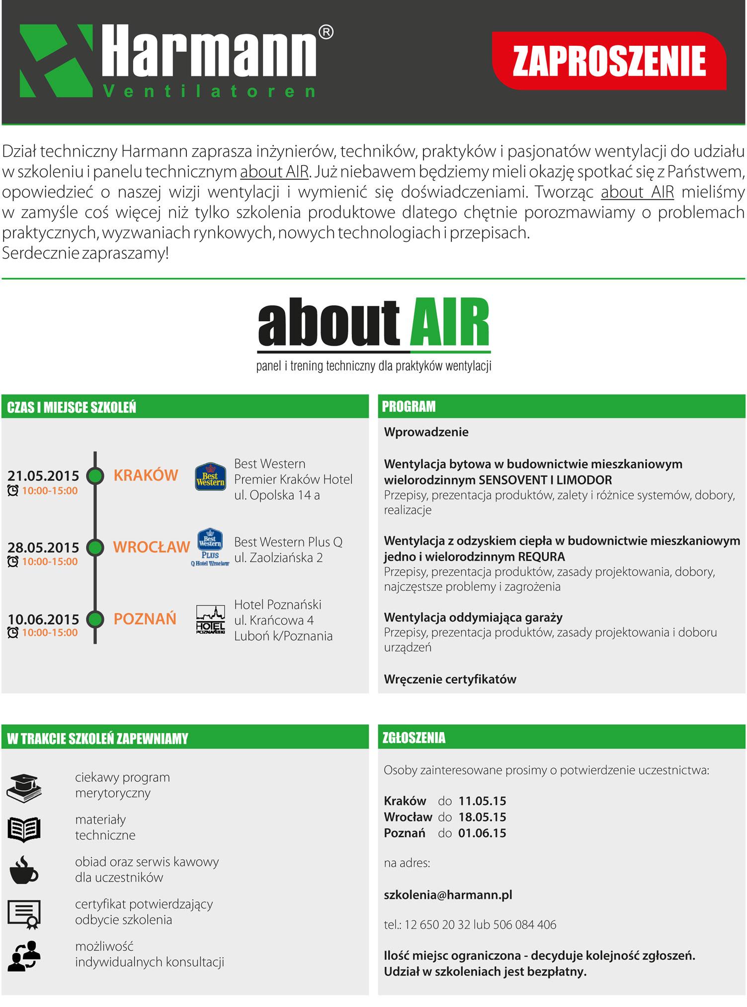 Szkolenia Harmann about AIR 2015