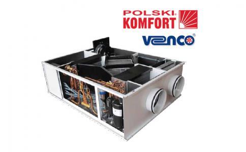 Fantastyczny Polski Komfort przedstawia: centrale wentylacyjne VHR DX z pompą CH79